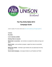 Fair Pay Campaign Guide